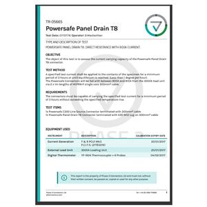 TR-05665 - Powersafe Panel Drain T8