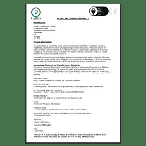 EC - Declaration of Conformity