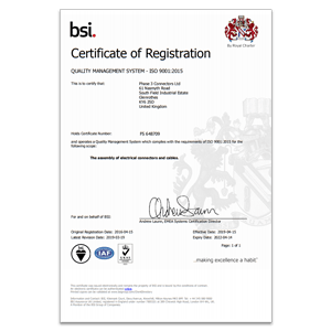 BSI ISO Certificate