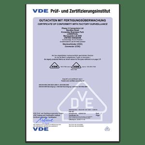 VDE - Certificate of Conformity